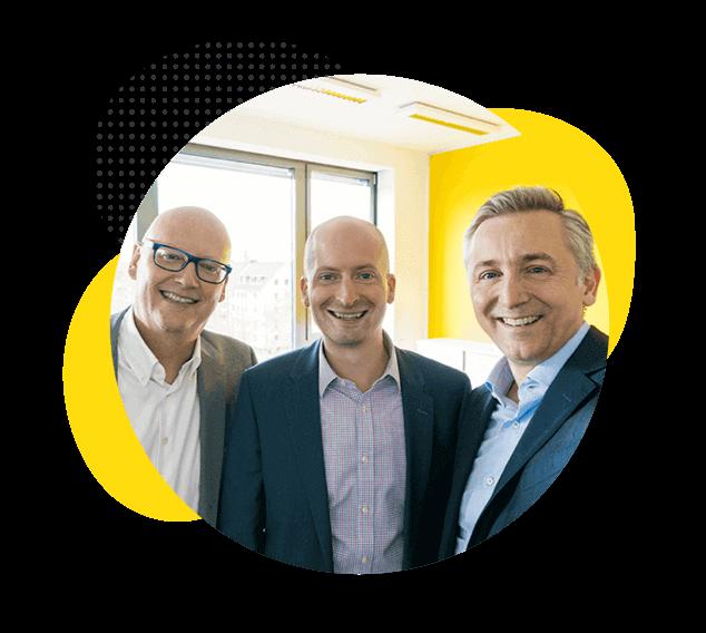 La dirección de Trusted Shops está formada por tres hombres.